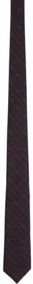 Gucci Navy Interlocking G Stripe Tie