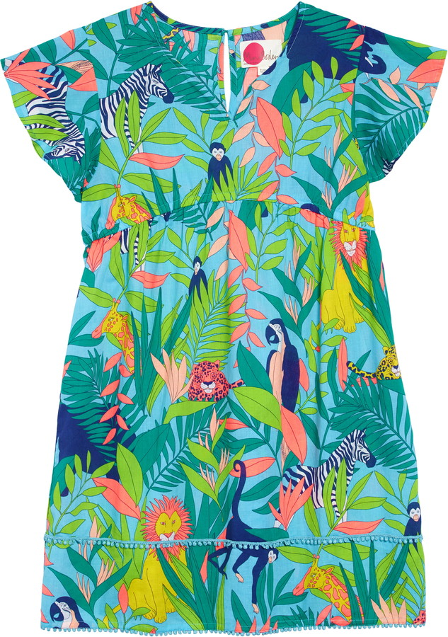 Mini Boden Fun Print Cover-Up Caftan Dress