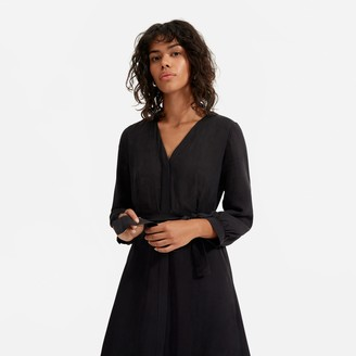 Everlane The Cupro Blouson Dress