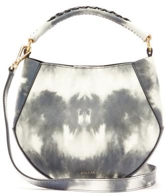 Wandler Corsa Mini Tie-dye Leather Tote Bag - Womens - Grey White