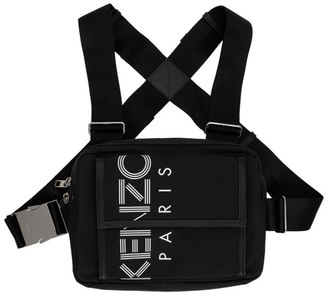 Kenzo Black Sport Logo Chest Rig Backpack