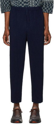 Issey Miyake Homme Plisse Blue Pleated Trousers
