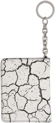 Maison Margiela White and Black Leather Bifold Wallet