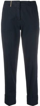 Peserico slim-fit cropped trousers