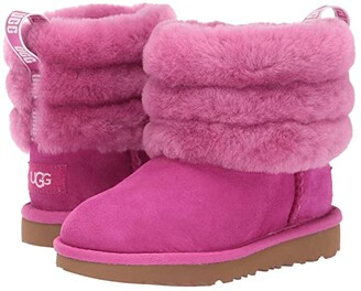 UGG Fluff Mini Quilted (Toddler/Little Kid) (Fuchsia) Girl's Shoes