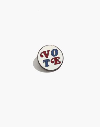 Madewell x Pintrill Enamel Vote Pin