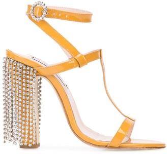 Leandra Medine embellished heel sandals