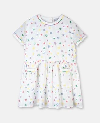 Stella Mccartney Kids Stars Embroidery Cotton Dress, Women's