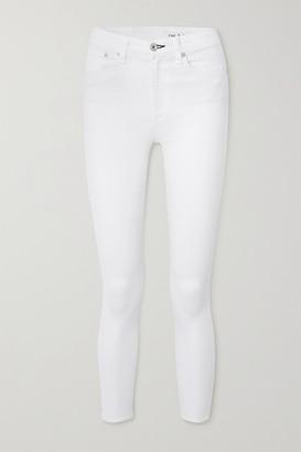 Rag & Bone Nina Cropped High-rise Skinny Jeans - White