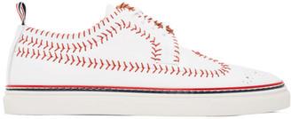 Thom Browne White Longwing Spectator Baseball Brogue Sneakers