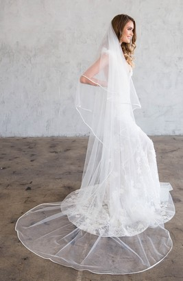 Brides & Hairpins Iven Satin Edge Tulle Chapel Veil