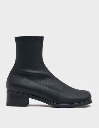 Amomento Women's Slim Boot in Black, Size 6 | Leather/Rubber