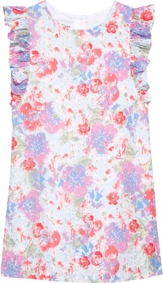 Pippa & Julie Floral Print Eyelet Shift Dress