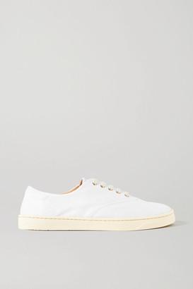 Gabriela Hearst Marcello Linen Sneakers - White