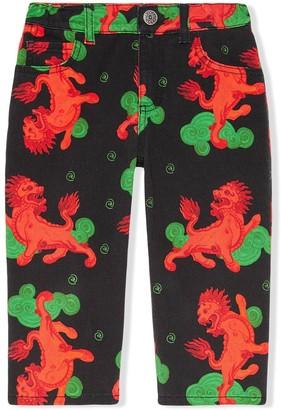 Gucci Kids Dragon Print Trousers