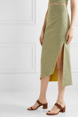 Silvia Tcherassi Bea Gingham Woven Midi Skirt - Green