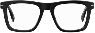 clear Db Squared Acetate Lens Glasses
