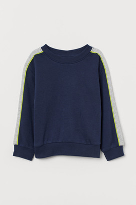 H&M Color-block Sweatshirt - Blue