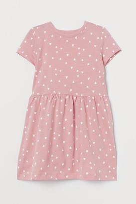 H&M Printed Cotton Dress - Pink