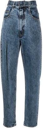 Maison Margiela Split-Leg Tapered Denim Jeans