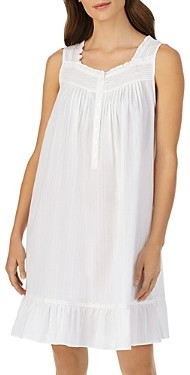 Eileen West Striped Sleeveless Short Gown