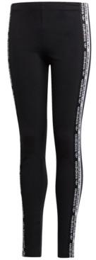 adidas Big Girls Logo Tape Leggings