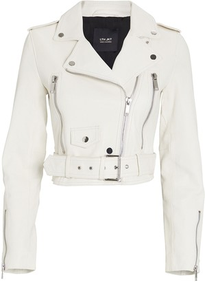 LTH JKT Mya Cropped Leather Moto Jacket