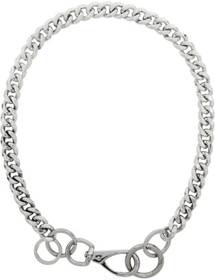 Martine Ali Silver Cuban Wallet Chain Necklace