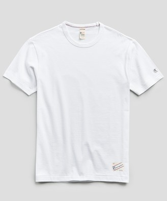 Todd Snyder + Champion Heavy Weight Short Sleeve Jock Tag Tee in White