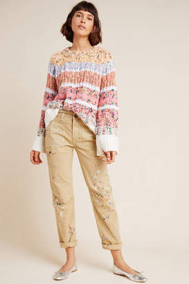 Anthropologie Wanderer Painterly Cargo Pants
