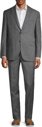Jack Victor Classic-Fit Glen Plaid Wool Suit