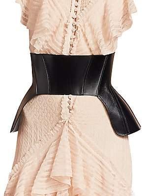 Alexander McQueen Women's Leather Corset Belt