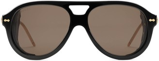 Gucci Aviator sunglasses with blinkers