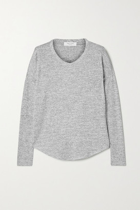 Rag & Bone Hudson Melange Stretch-jersey Top - Gray