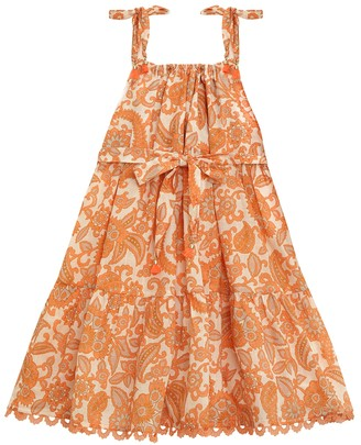 Zimmermann Peggy Tie Shoulder Bow Dress