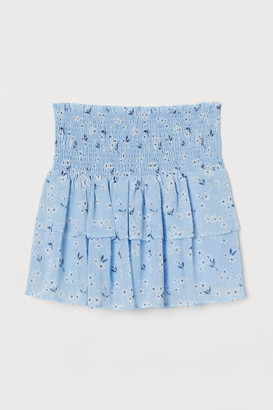 H&M Patterned Tiered Skirt - Blue