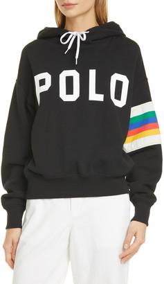 Polo Ralph Lauren Rainbow Stripe Sleeve Logo Hoodie