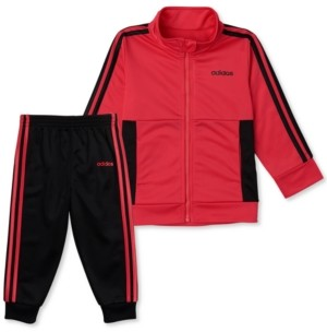 adidas Little Girls 2-Pc. Tricot Colorblocked Jacket & Jogger Pants Set
