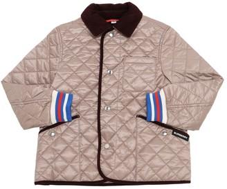 Burberry Quilted Nylon Jacket W/ Velvet Collar