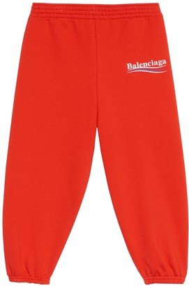 Balenciaga Kids Logo Jogger Pants Red