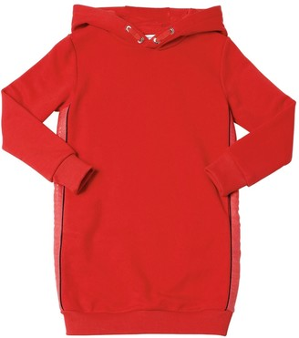 Givenchy Hooded Logo Cotton Sweatshirt Dress