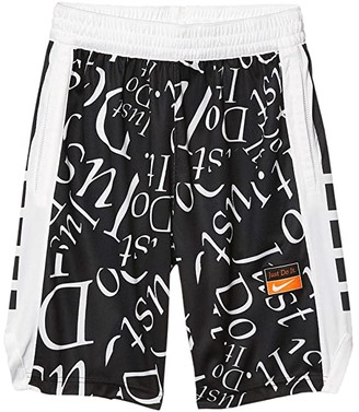 Nike Kids Elite Energy Shorts (Little Kids/Big Kids) (Black/White/White) Boy's Shorts