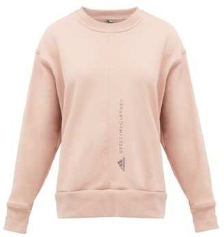 adidas by Stella McCartney Embroidered-logo Cotton Sweatshirt - Womens - Light Pink