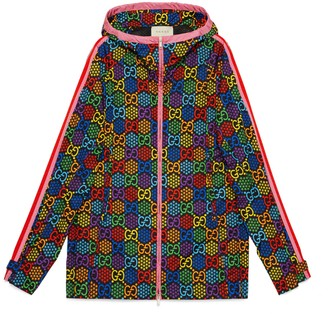 Gucci GG Psychedelic print nylon jacket