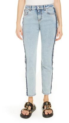 Alexander McQueen Stripe Side Skinny Jeans