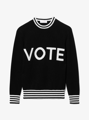 Michael Kors Vote Cashmere Intarsia Sweater