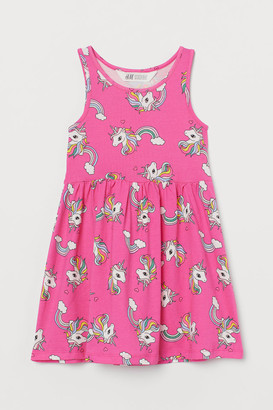 H&M Patterned Jersey Dress - Pink