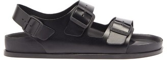 Birkenstock 1774 - Milano Ankle-strap Leather Sandals - Mens - Black