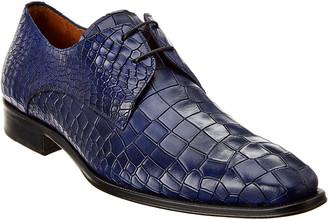 Mezlan Gianni Croc-Embossed Leather Oxford