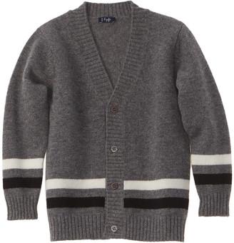 Il Gufo Striped Wool Cardigan